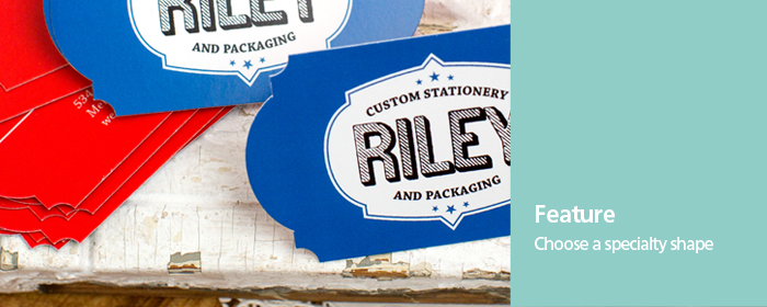Two-Sided Shaped Professional Press Printed Business Cards