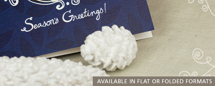 Flat or Folded Press Printed Greeting Cards