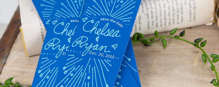 Save The Date Personalized Press Printed Keepsake Bookmarks!