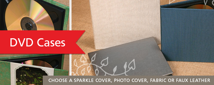 DVD Cases for Photographers with Sparkle Cover