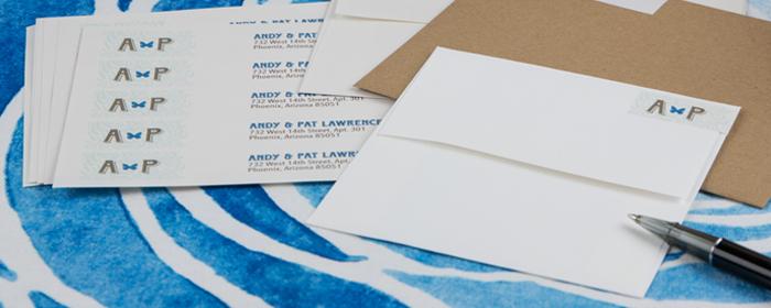 Professional Press Printed Wrap Around Address Label Stickers!