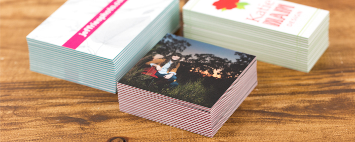 ColorThick Inserts Business Cards 6 Colors 48 64 Point Thickness