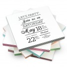 """4 Bar - 3.5"""" x 4.875"""" ColorTHICK Greeting Card"""
