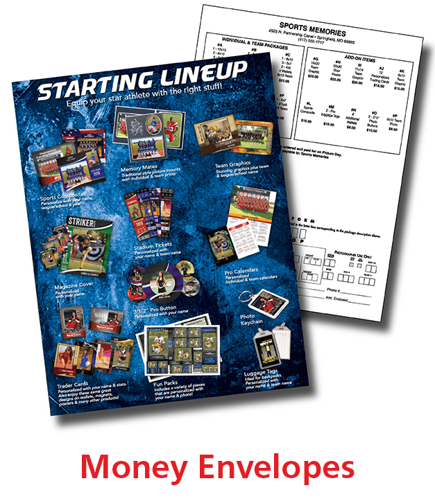 Sports Money Envelopes