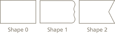 Address Label Shapes