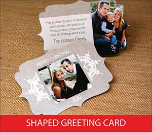 Shaped Greeting Card Sample Image