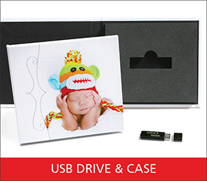 USB Drive and Cases Sample Image