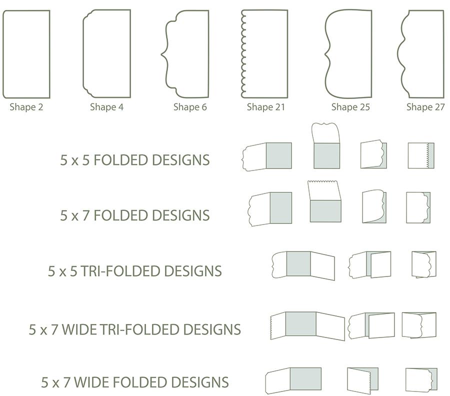 Shaped Folded Cards
