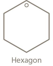 Shaped Metal Ornament Hexagon