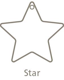 Shaped Metal Ornament Star