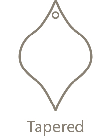 Shaped Metal Ornament Tapered