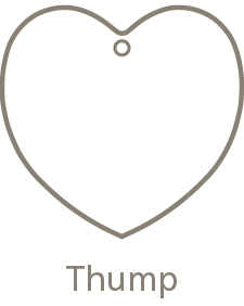 Shaped Metal Ornament Thump