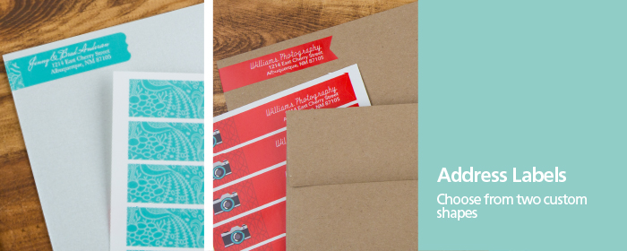 Custom Shaped Wrap-Around Address Label Sticker
