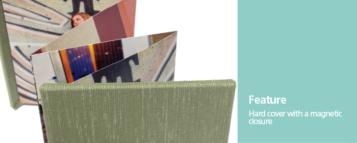 Fabric Hard Cover Multiple Image Accordion Memory Books