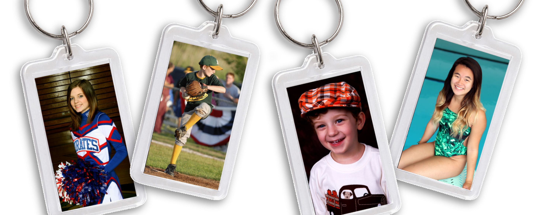 Two-Sided Sports Custom Photo Key Chain