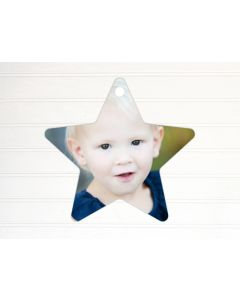 "Star Metal Ornament 3.81"" x 3.98"""