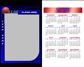 Honeycomb Basketball Calendar