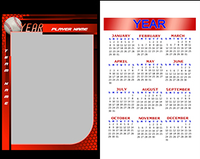 Honeycomb Baseball Calendar