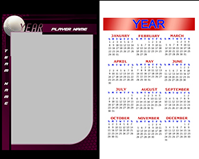 Honeycomb Softball Calendar