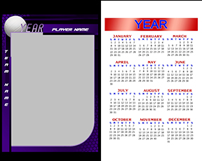 Honeycomb Volleyball Calendar