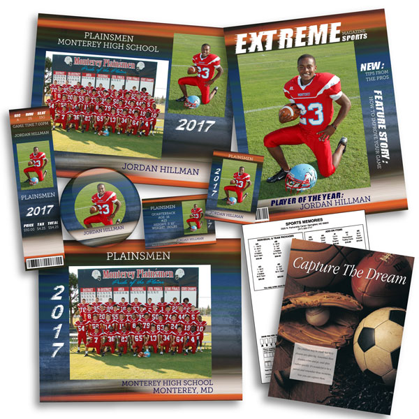 Collage of Sports Products in the Extreme design