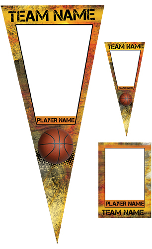 Fierce Basketball Pennant Pack
