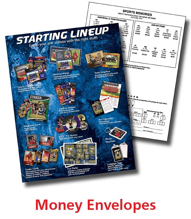 Sports Money Envelopes