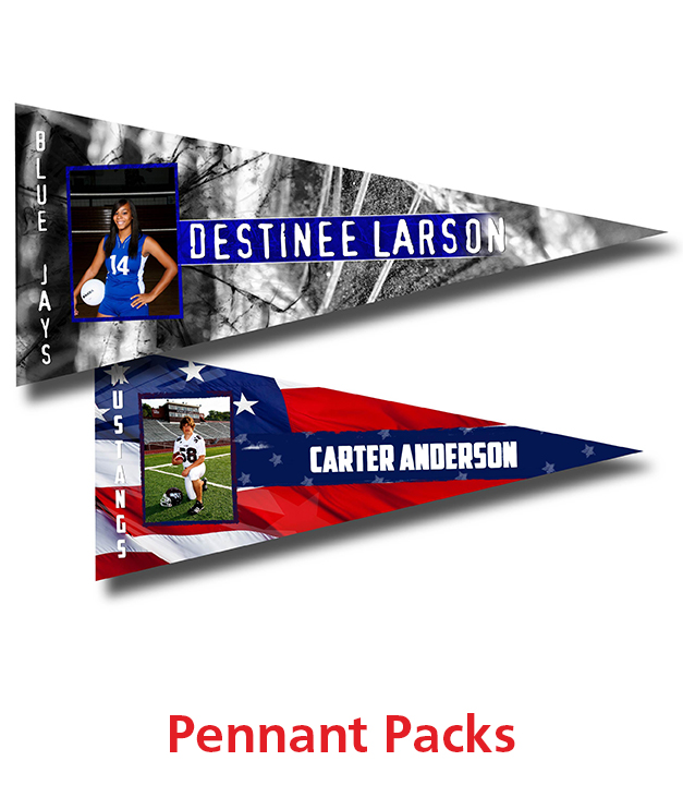 Sports Magnetic Pennant Packs