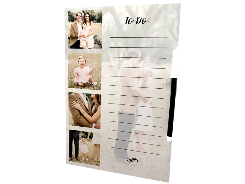 Dry Erase Board with images & To Do List