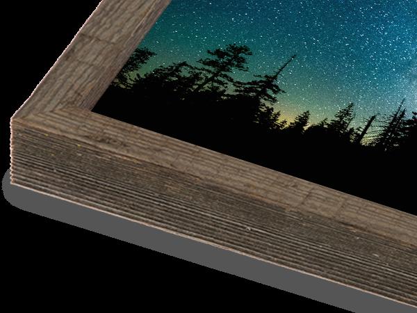 Barnwood Box Natural Frame