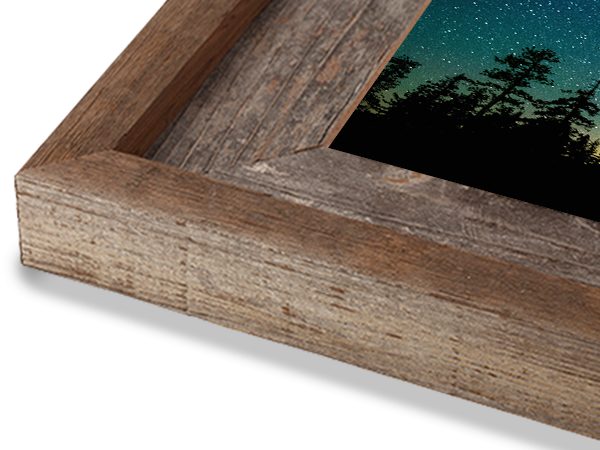2.25 Natural with Cap Barnwood Frame