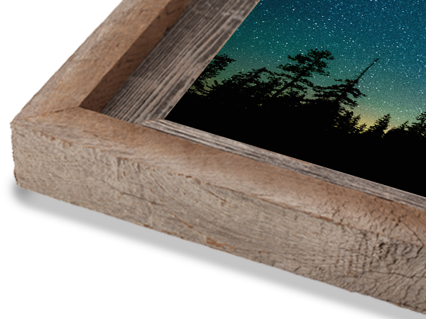 2 Natural with Cap Barnwood Frame