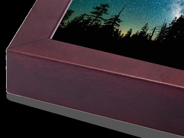 Box Mocha Classic Wood Frame