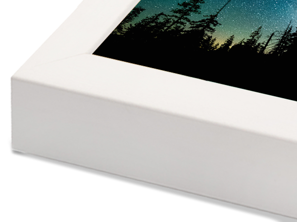 Box White Basic Wood Frame