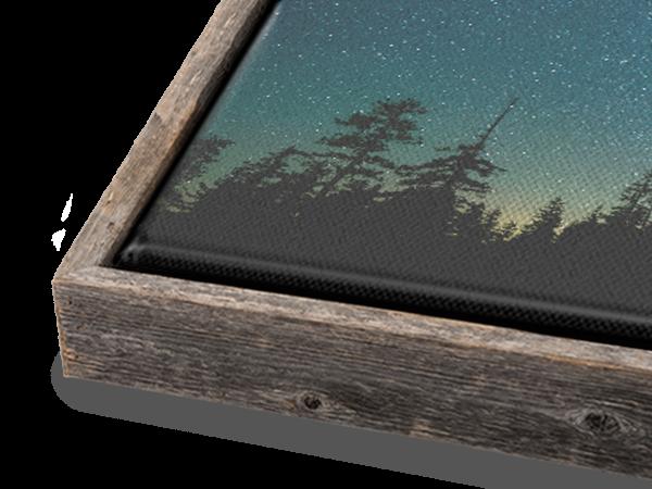 Natural Barnwood Slim Float Frame