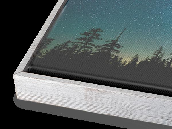 White Barnwood Slim Float Frame