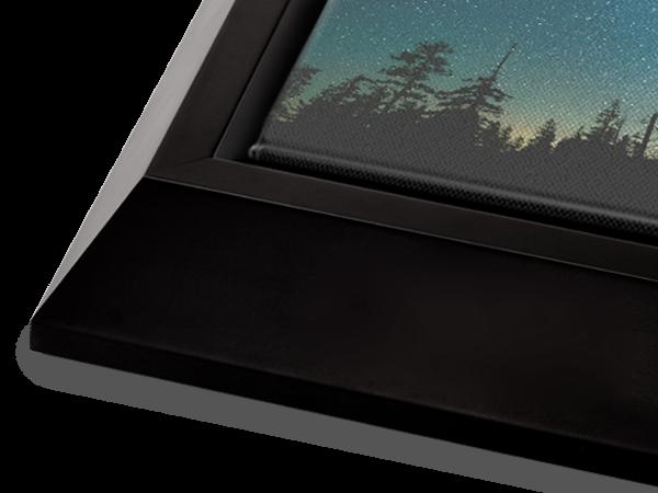 Black Wedge Float Frame