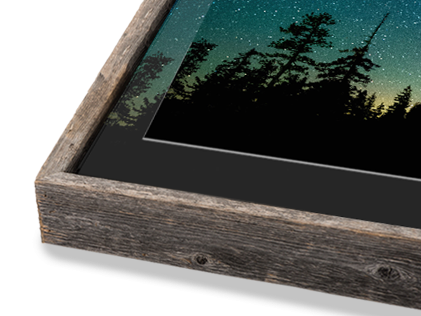Natural Barnwood Slim Float Frame