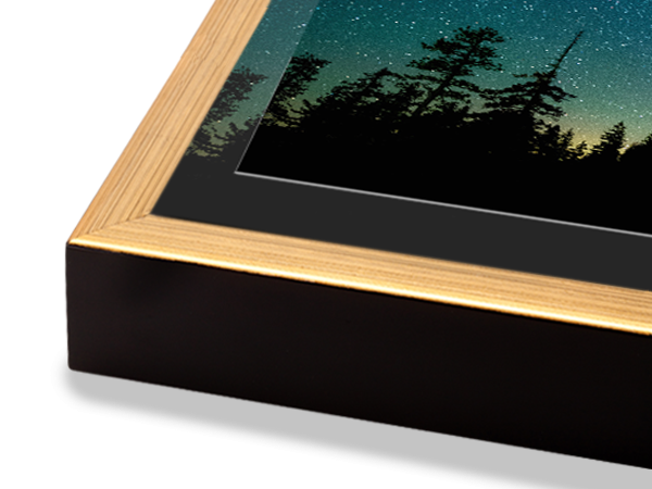 Gold Slim Float Frame