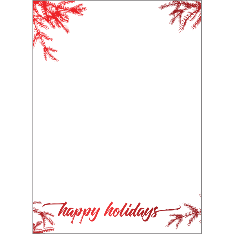 Holiday Foil Stamped Cards Design FL016Pv