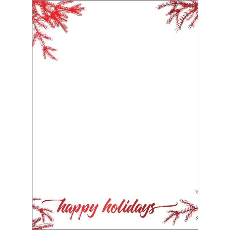 Holiday Foil Stamped Cards Design FL016Pv