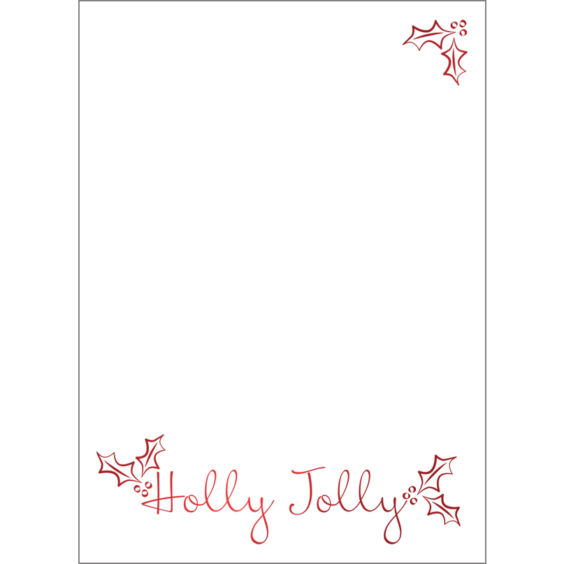 Holiday Foil Stamped Cards Design FL019Pv