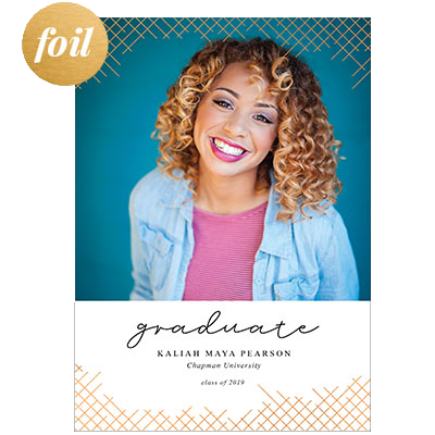 Graduation Foil Stamped Cards Design FL023Pv