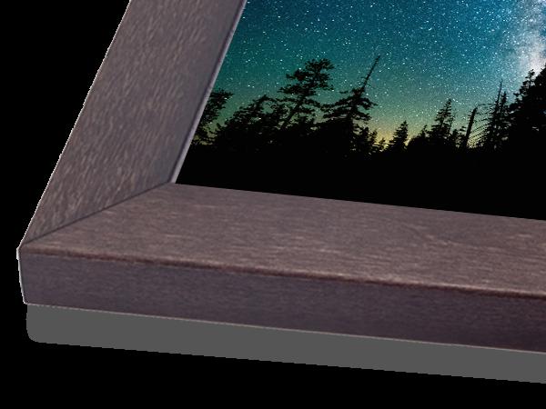 Flat Charcoal Basic Wood Frame