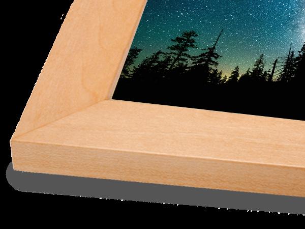 Flat Natural Classic Wood Frame