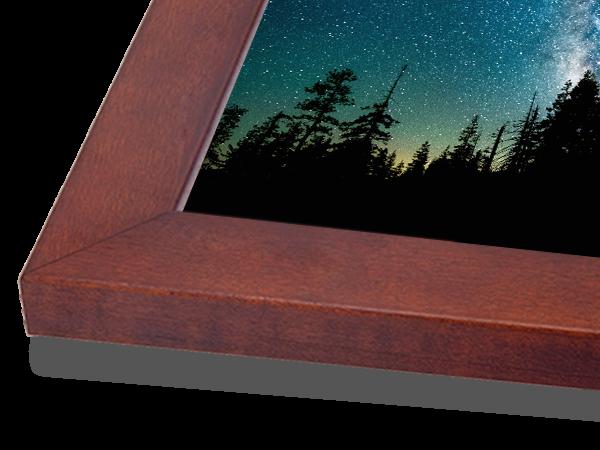 Flat Walnut Classic Wood Frame