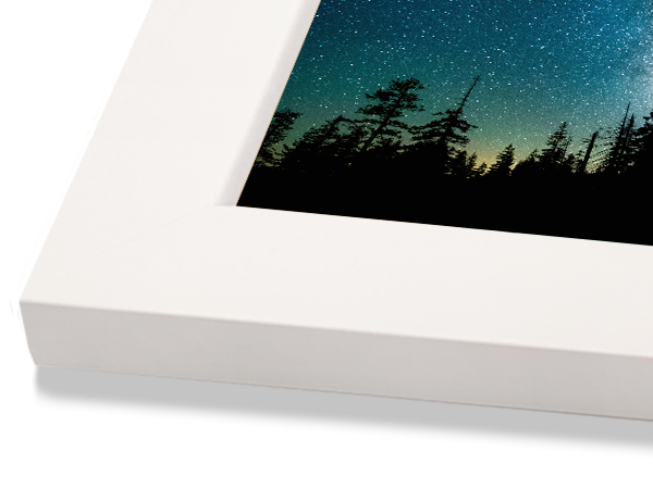 Flat White Classic Wood Frame