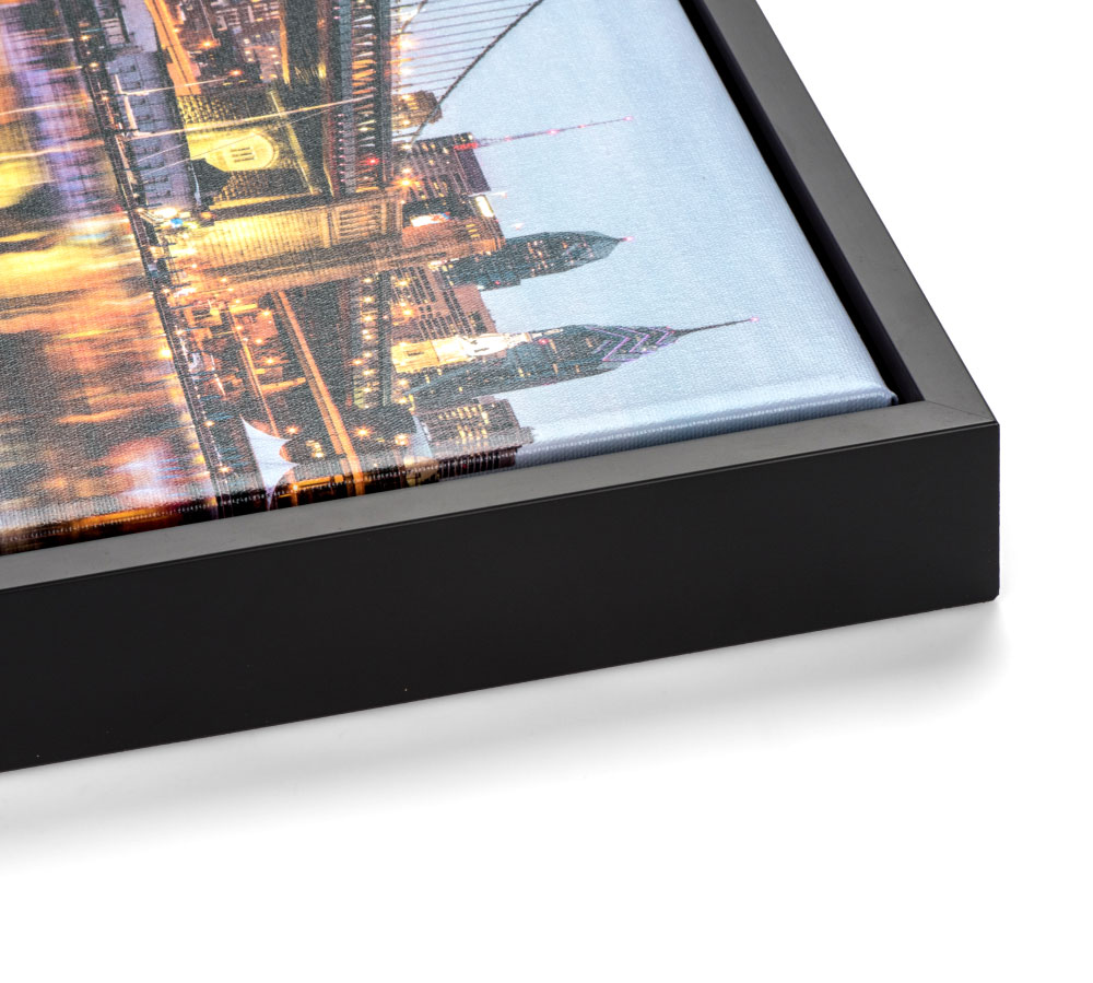 Black Slim Float Frame