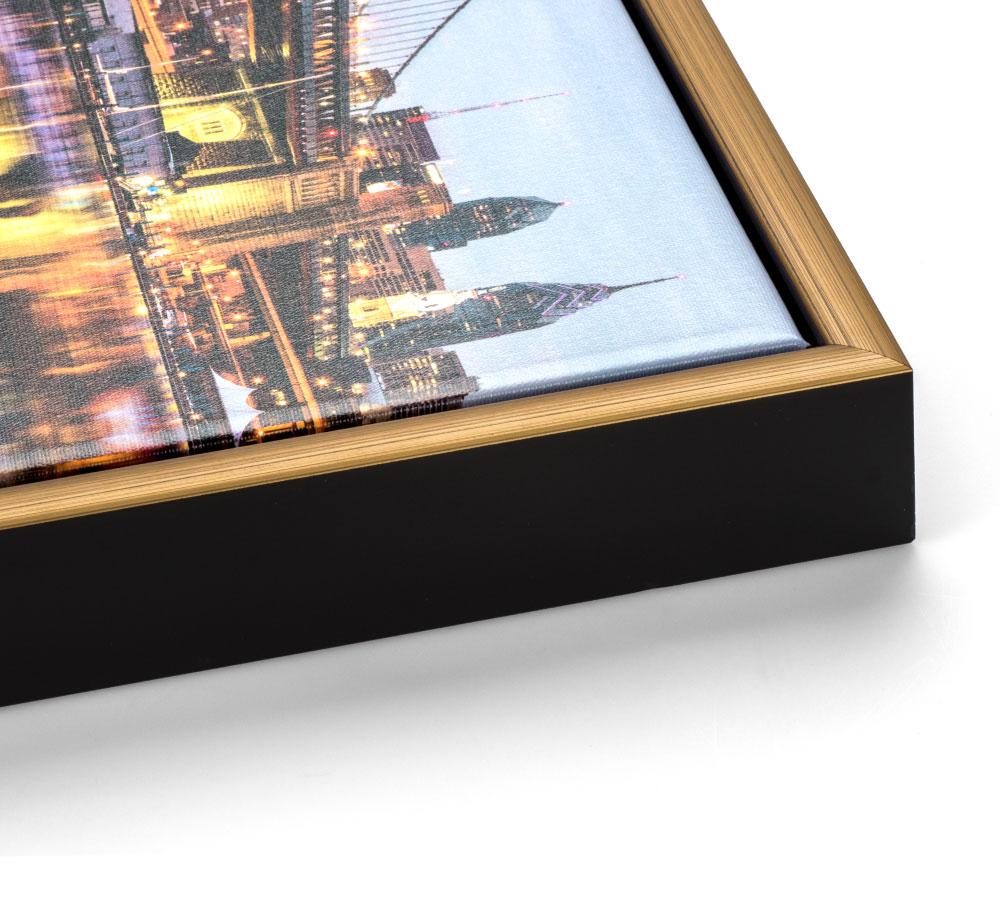 Gold Slim Float Frame