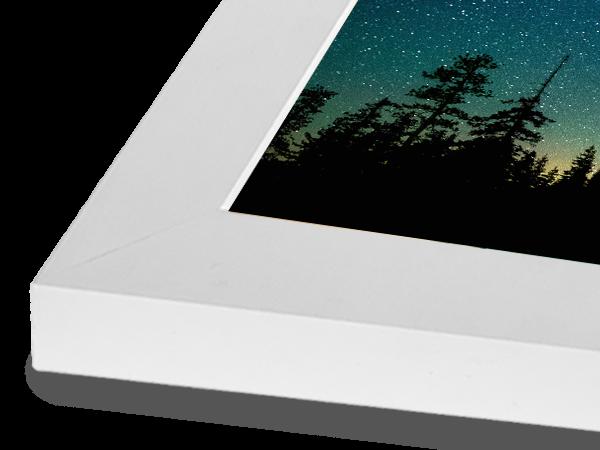 Modern Block White Frame